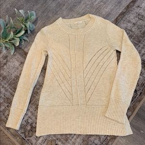 Mystree cream crew neck sweater